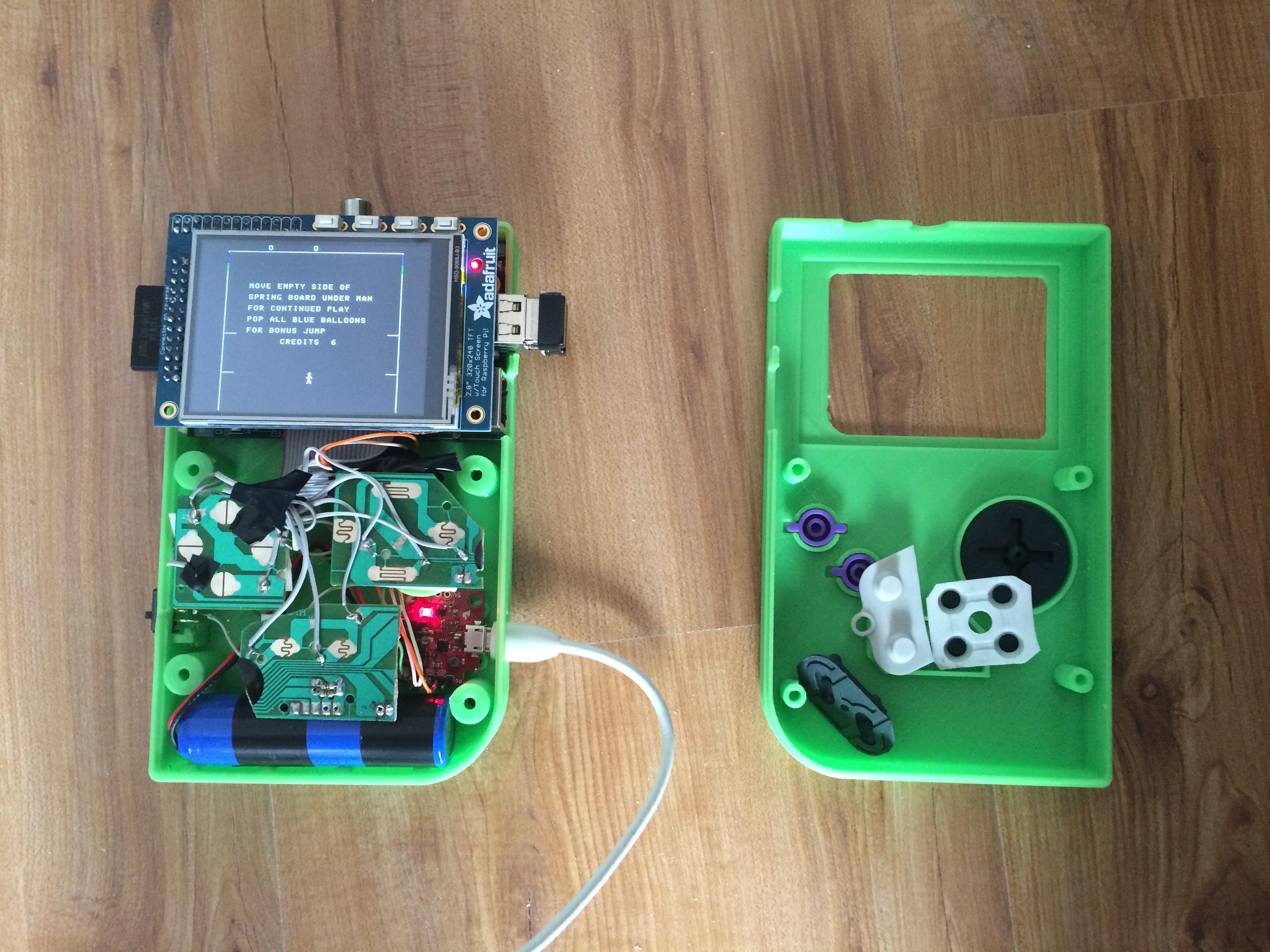 Building The Greenboy Err Piboy Pigrrls Friend A Cristians Blog Electronic Game Circuit Diagram Guts2